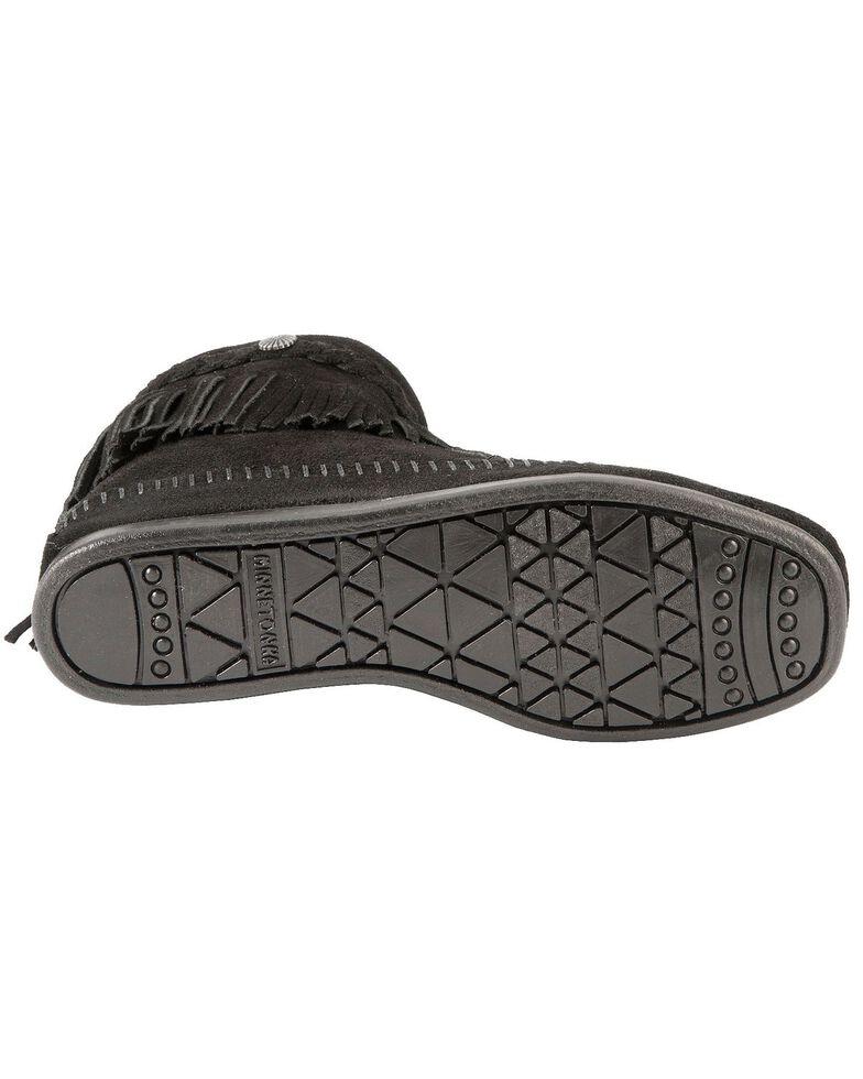 Minnetonka Women's Hi Top Back Zip Boots, Black, hi-res