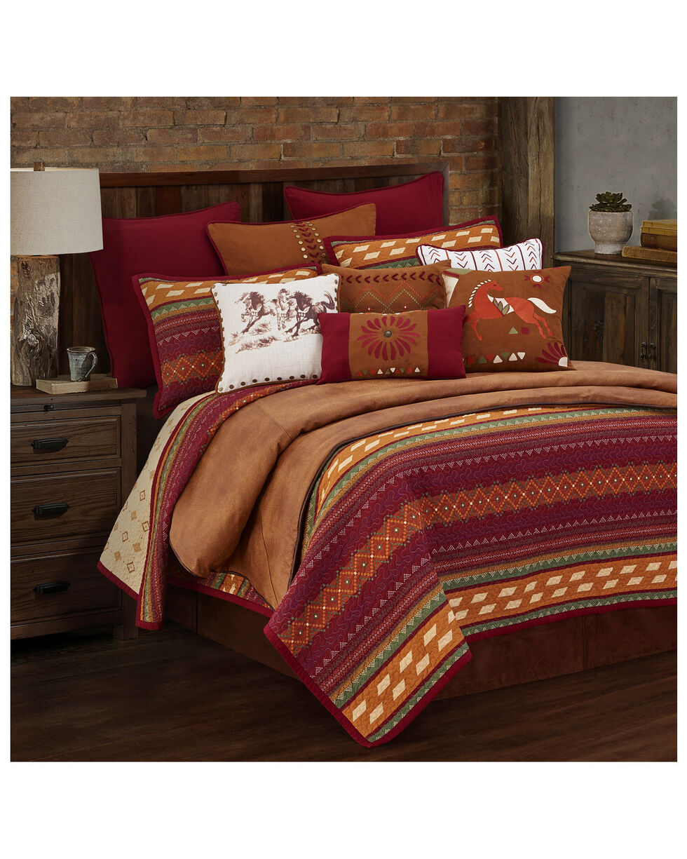 HiEnd Accents Full/Queen Reversible Solace Quilt Set, Red, hi-res