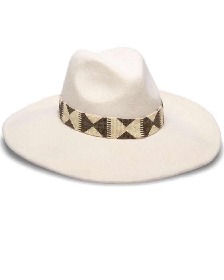 Nikki Beach Women's Bonsoa Wool Felt Western Hat , White, hi-res