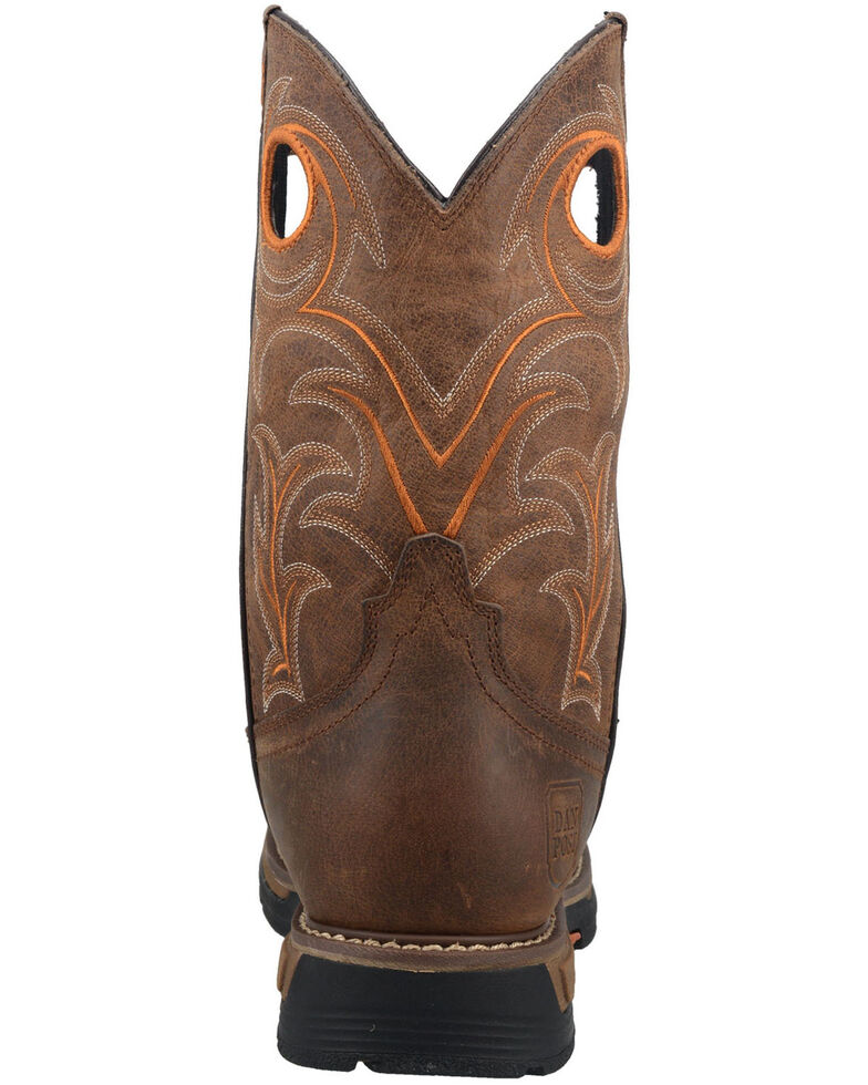 Dan Post Men's Storms Eye Waterproof Western Work Boots - Composite Toe , Brown, hi-res