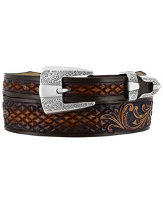 Tony Lama Men's Del Rio Western Belt, Brown, hi-res