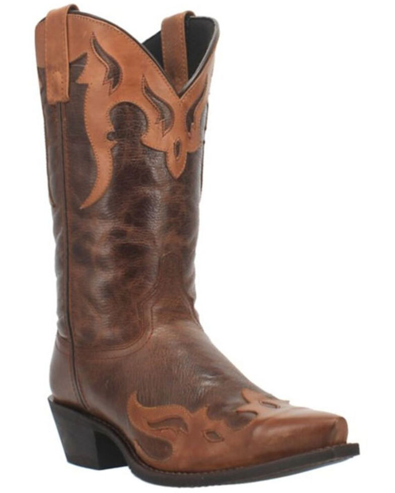 Laredo Men's Lyon Western Boots - Snip Toe, Brown, hi-res