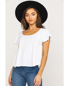 White Crow Women's White Basic Carlene Top, White, hi-res