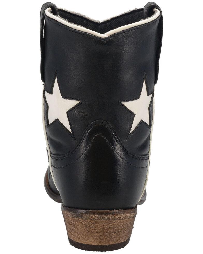 Laredo Women's Star Girl Western Booties - Round Toe, Black, hi-res