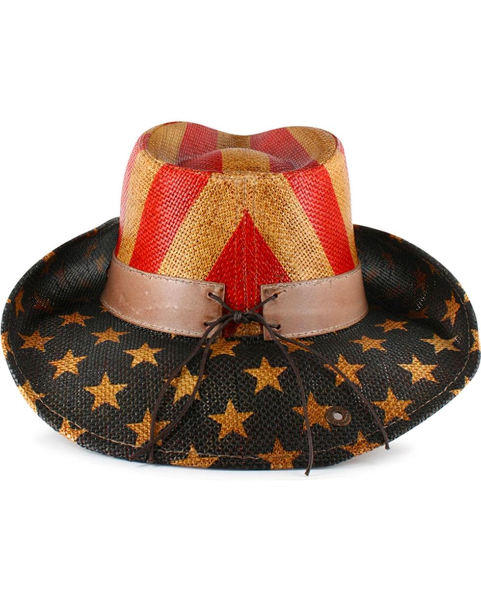 Cody James® American Flag Straw Western Hat, Am Spirit, hi-res