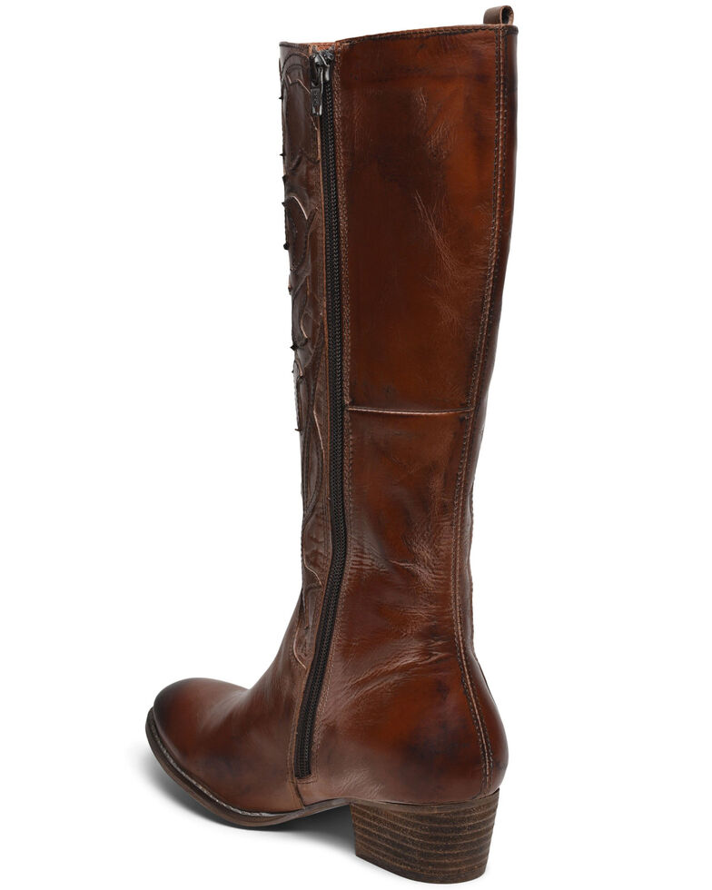 Roan by Bed Stu Women's Ellia Tall Western Boots - Round Toe, Tan, hi-res