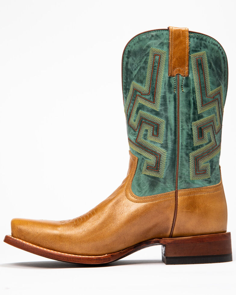 Cody James Men's Tan Chivalrous Western Boots - Narrow Square Toe, Green/brown, hi-res