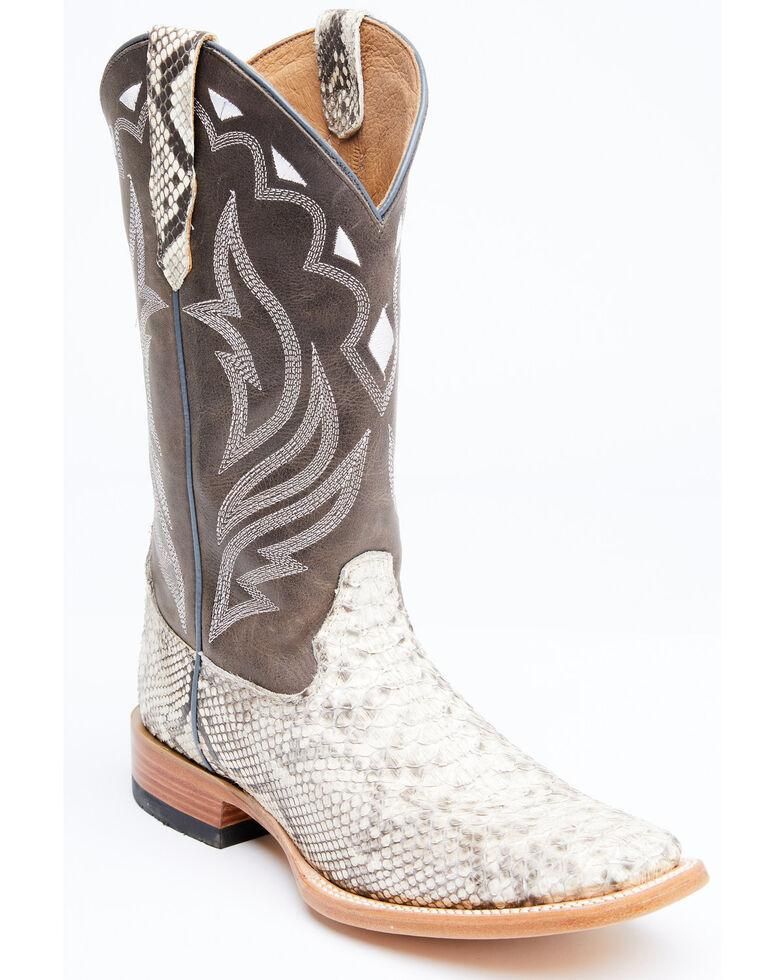 Cody James Men's Grey Python Western Boots - Wide Square Toe, Grey, hi-res