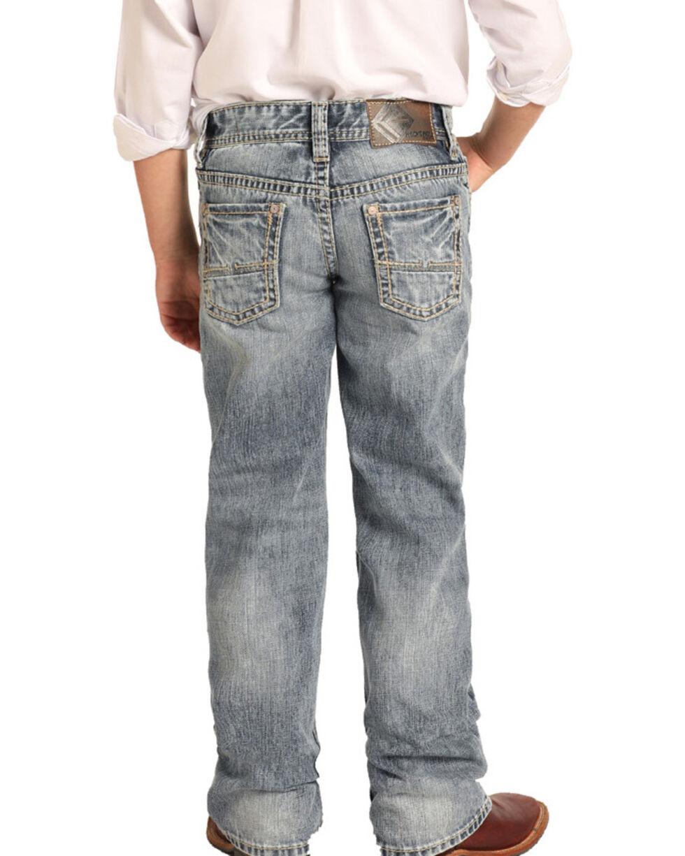 NWT!! Boys BB-7703 Rock /& Roll Cowboy Med Stonewash Regular Fit Bootcut Jean