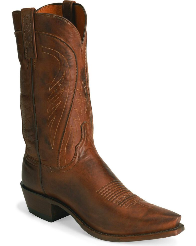 """Lucchese Men's 1883 Pull-On 13"""" Western Boots, Tan, hi-res"""