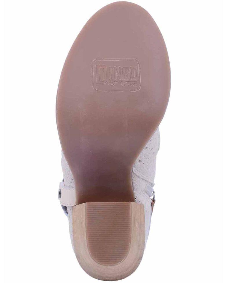 Dingo Women's Whiskey Spurs Fashion Booties - Peep Toe, Ivory, hi-res
