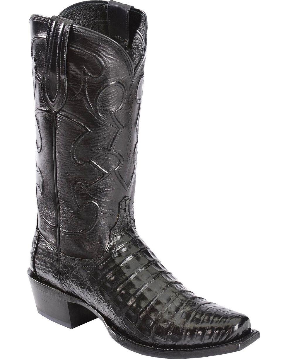 Lucchese Men's Charles John Wayne Crocodile Western Boots, Black, hi-res