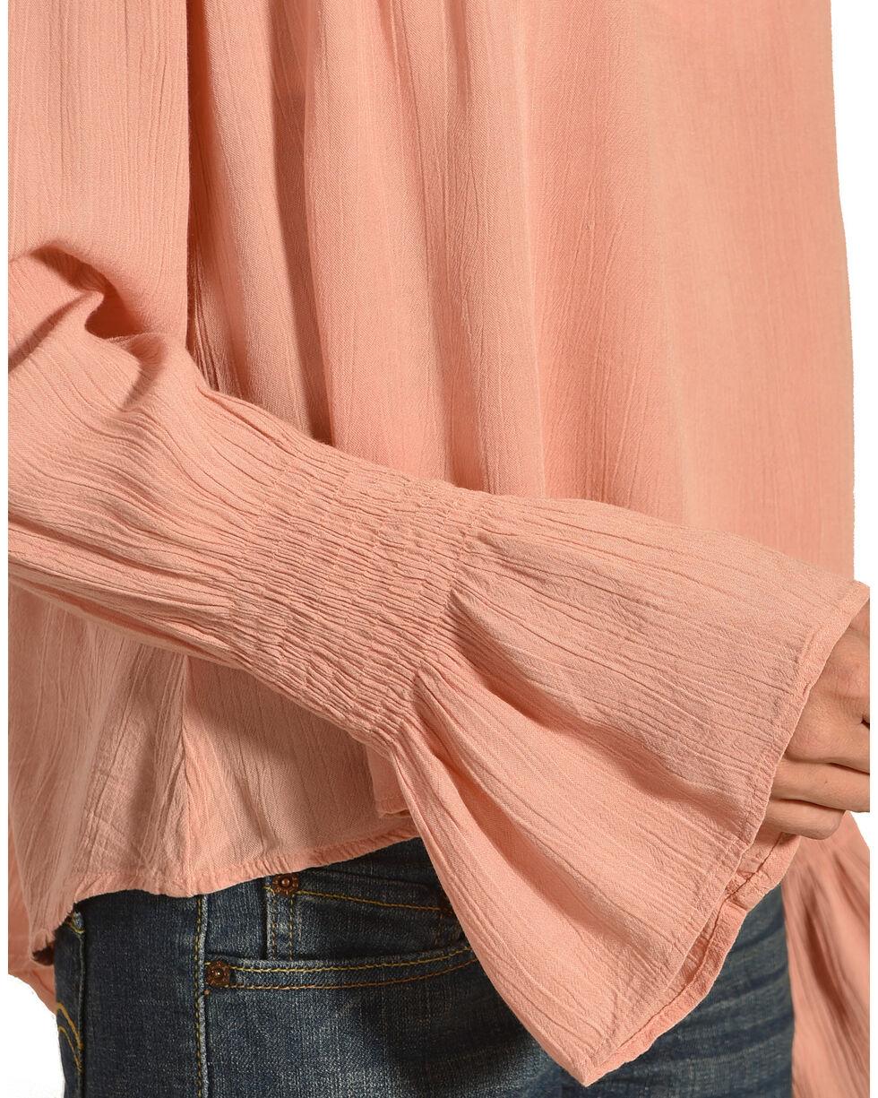 Derek Heart Women's Embroidered Long Sleeve Top, Pink, hi-res
