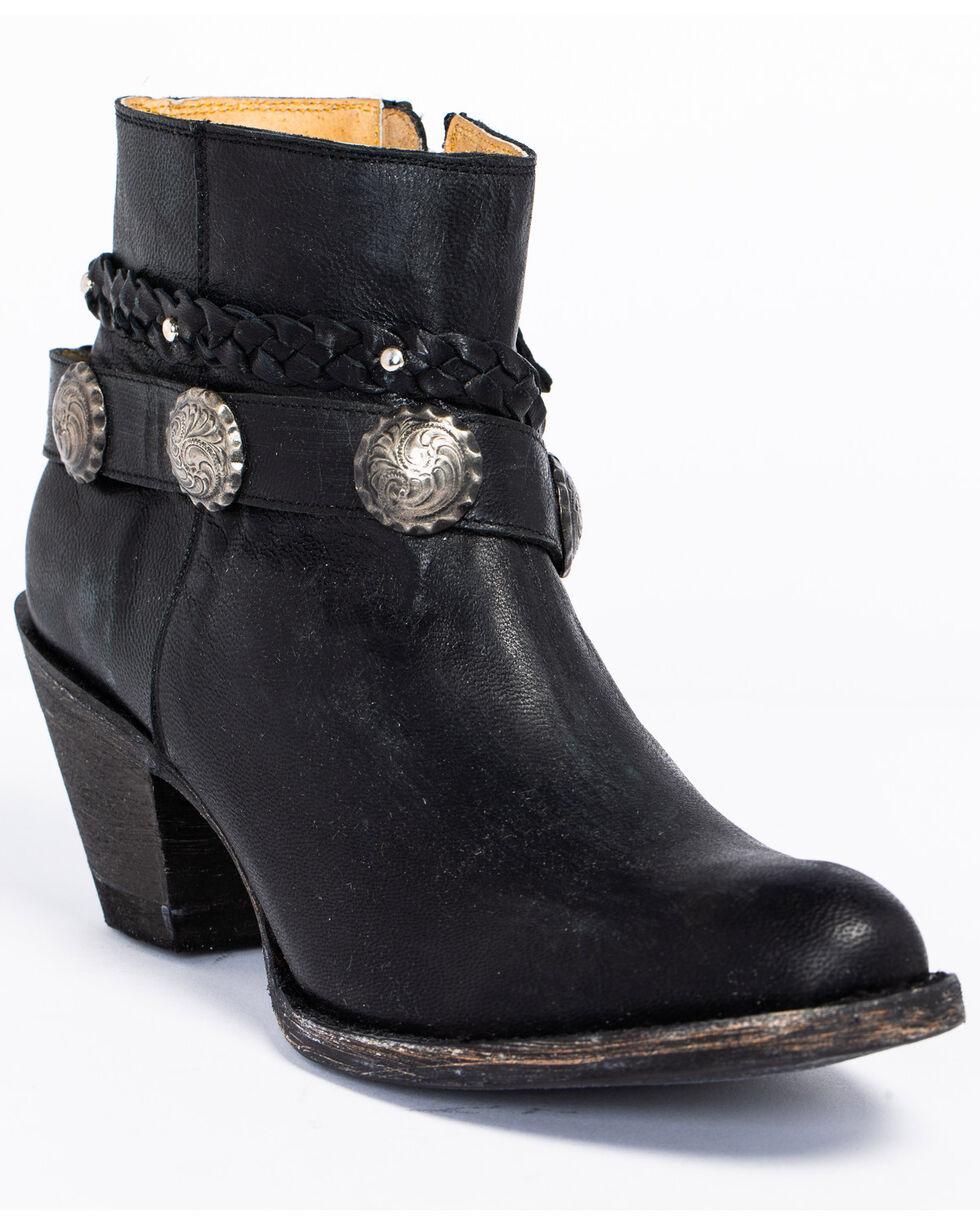 Idyllwind Women's Fierce Black Western Booties - Round Toe, Black, hi-res