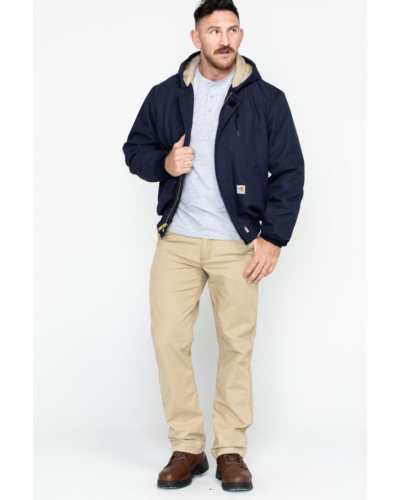 Carhartt Men's Flame-Resistant Duck Active Work Jackets, Navy, hi-res