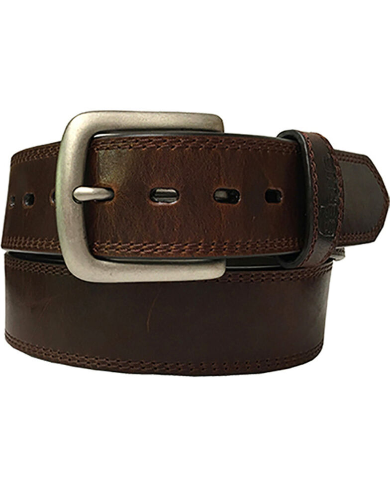 Berne Men's Oily Pull Up Leather Belt , Brown, hi-res