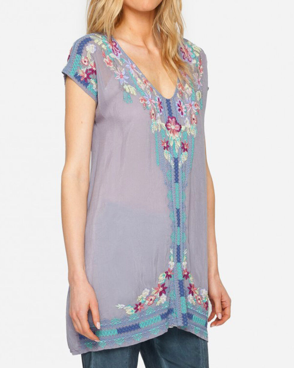 Johnny Was Women's Yassi Tunic , Blue, hi-res