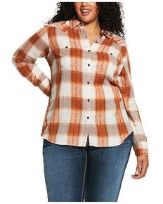 Ariat Women's R.E.A.L. Summer Dust Billie Jean Shirt - Plus, Rust Copper, hi-res