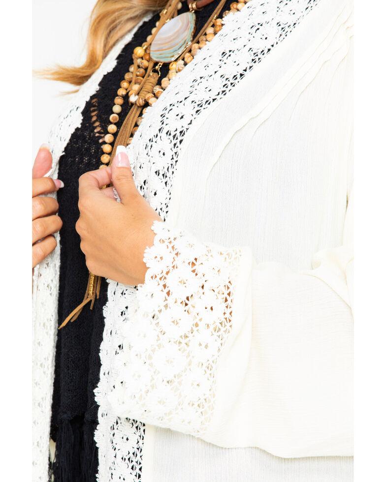 Wrangler Women's Ivory Lace Trim Duster, Ivory, hi-res