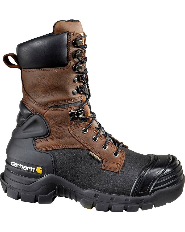 "Carhartt 10"" Waterproof Insulated Pac Boots - Composite Toe, Black, hi-res"