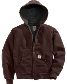 Carhartt Women's Active Duck Quilted Work Jacket, Brown, hi-res