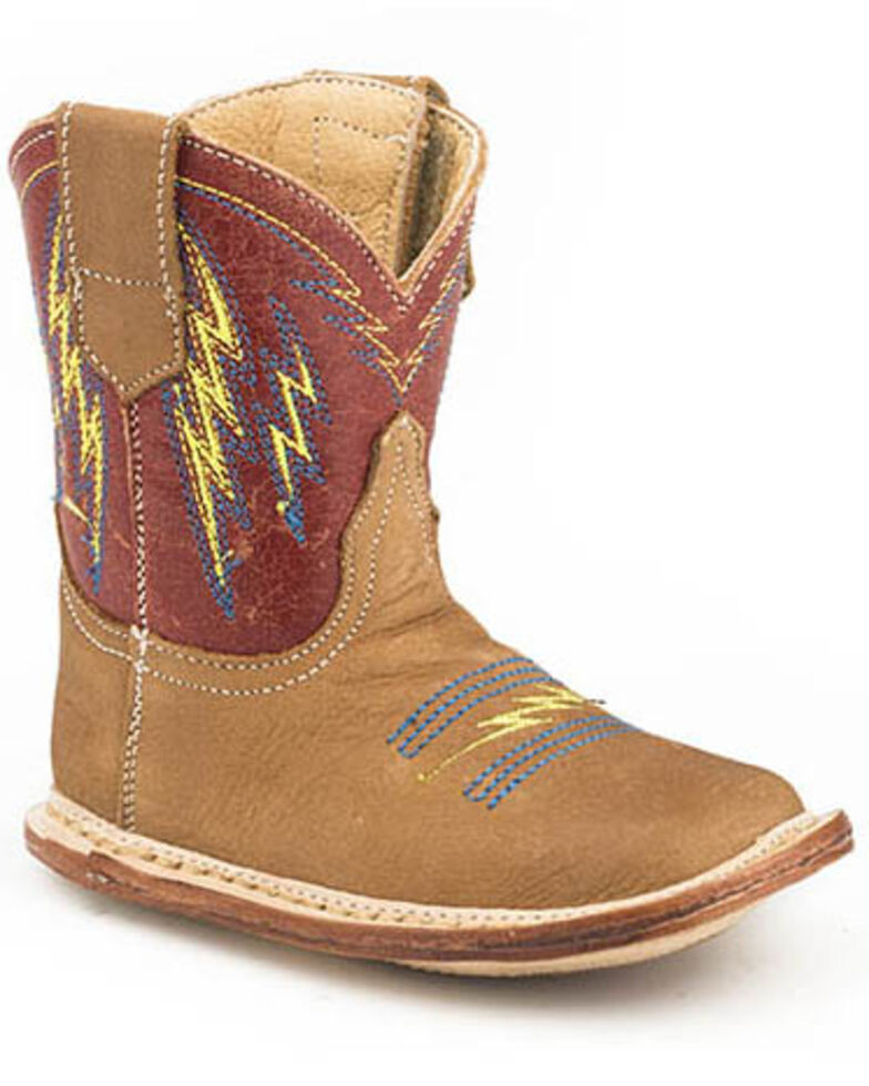 Roper Infant Boys' Lightning Western Boots - Square Toe, Tan, hi-res