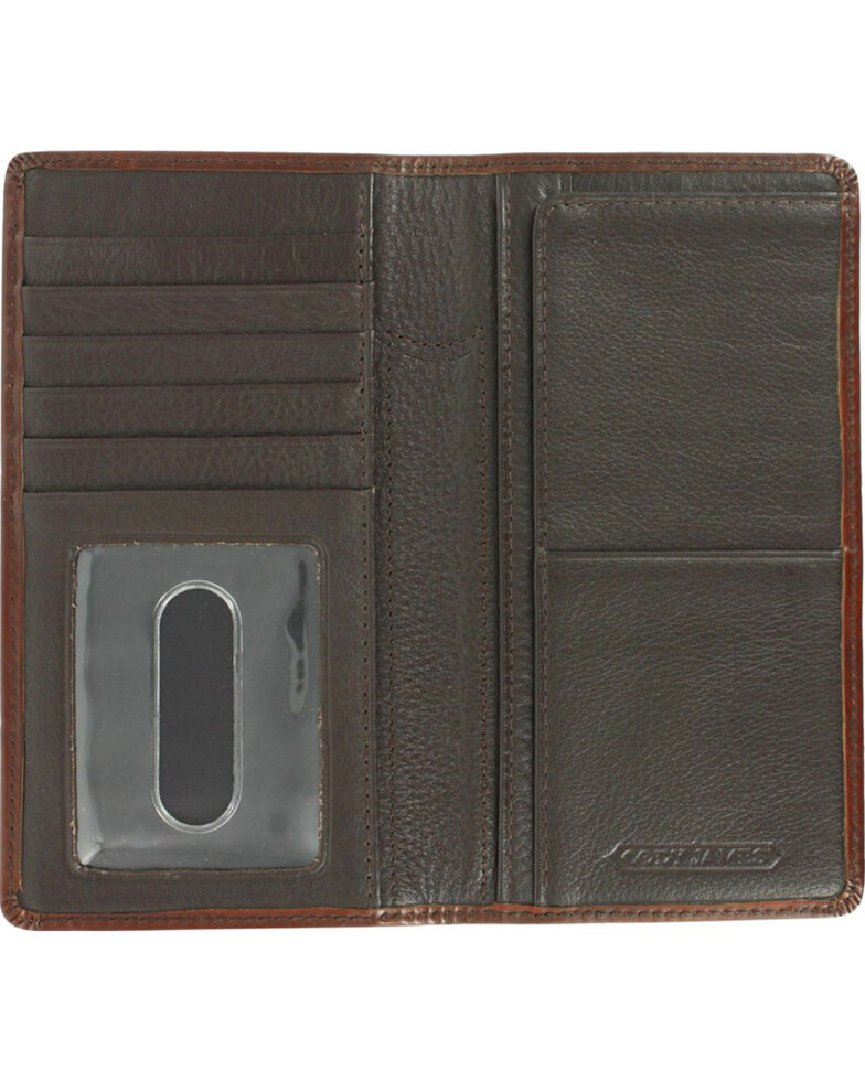 Cody James® Men's Cattle Driven Wallet and Checkbook Cover, Dark Brown, hi-res