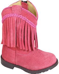 Smoky Mountain Toddler Girls' Hopalong Fringe Western Boots - Round Toe, Pink, hi-res