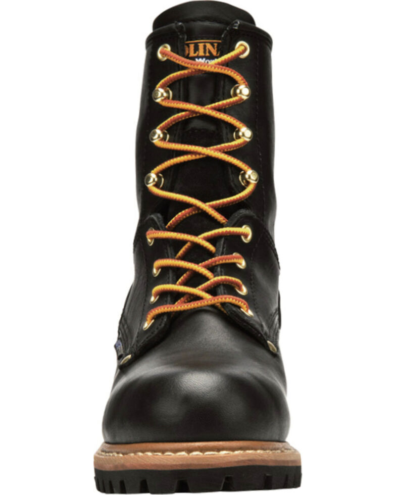 "Carolina Men's Logger 8"" Steel Toe Work Boots, Black, hi-res"