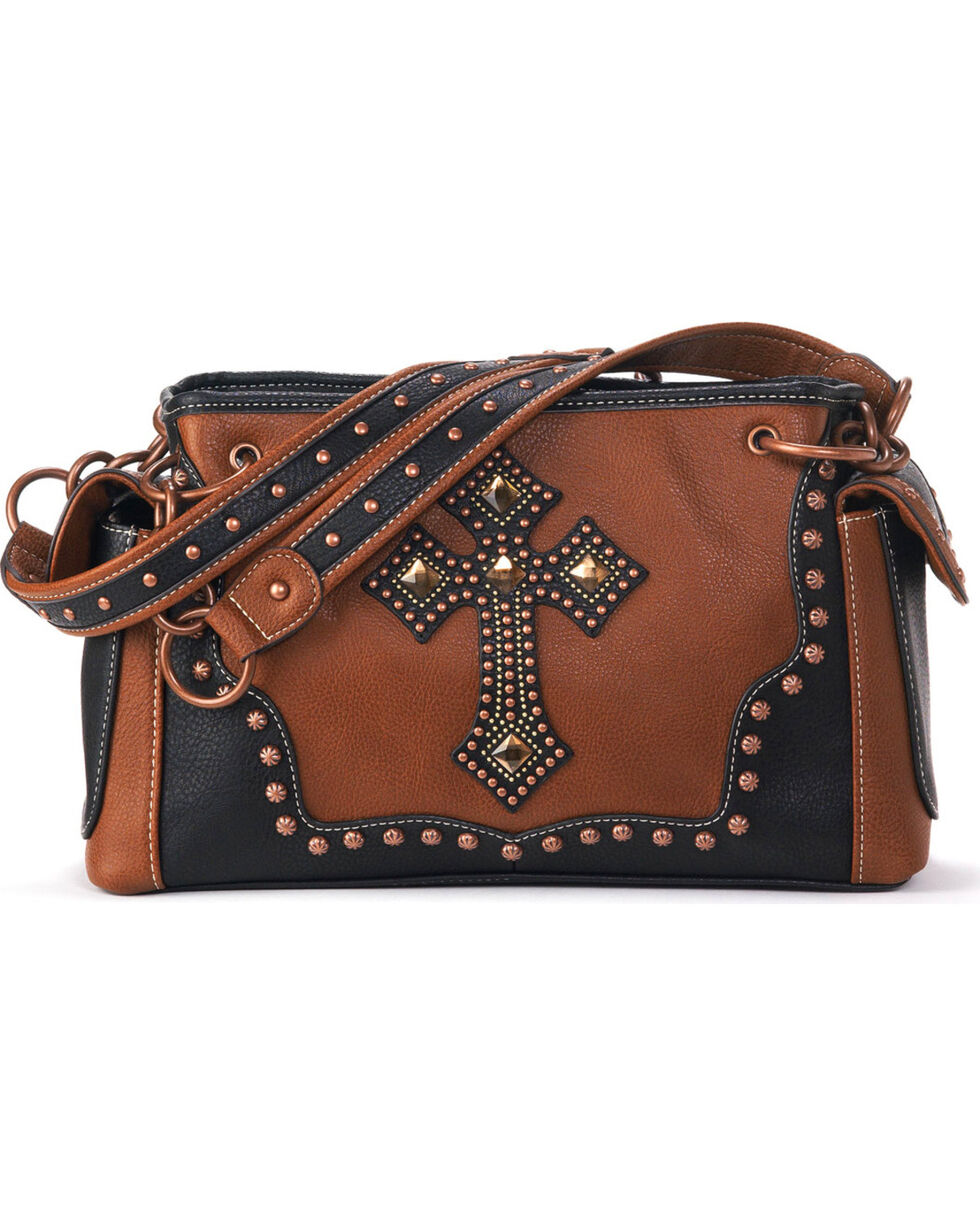 Blazin Roxx Women's Embellished Cross Purse, Rust Copper, hi-res