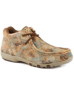 Roper Women's Tan High Country Chelsea Chukka Shoes, Tan, hi-res