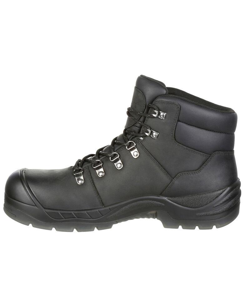 """Rocky Men's Worksmart Waterproof 5"""" Work Boots - Composite Toe, Black, hi-res"""