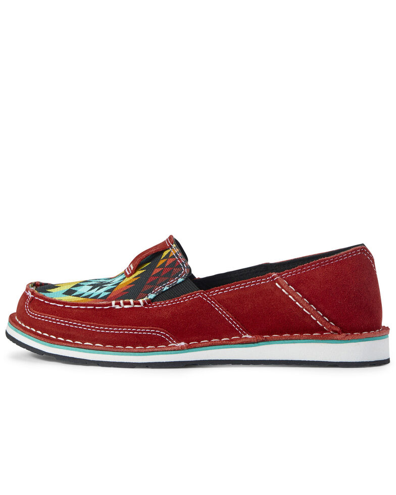 Ariat Women's Cruiser Ruby Serape Shoes - Moc Toe, Red, hi-res