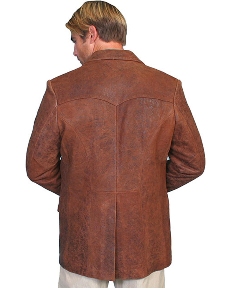 Scully Men's Lamb Leather Blazer - Big and Tall , Brown, hi-res