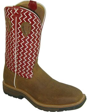 Twisted X Men's Western Work Boots, Distressed, hi-res