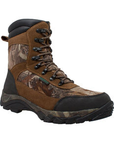"Ad Tec Men's 10"" Real Tree Camo Waterproof 400G Hunting Boots, Camouflage, hi-res"