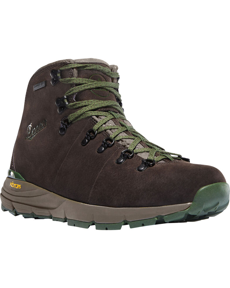 Danner Men's Dark Brown/Green Mountain 600 Hiking Boots, Dark Brown, hi-res