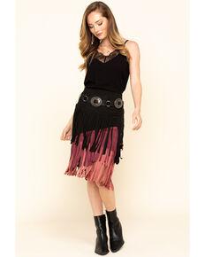 Chrysanthemum Women's Multi-Colored Fringe Skirt, Multi, hi-res
