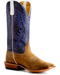 Horse Power Men's Sahara Sand Western Boots - Square Toe, Sand, hi-res