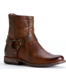Frye Women's Phillip Harness Boots - Round Toe, Cognac, hi-res