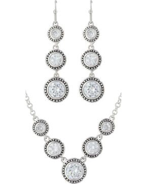 Montana Silversmiths Star Lights Dewdrop Jewelry Set, Silver, hi-res