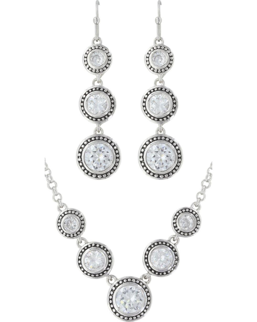 Montana Silversmiths Star Lights Dewdrop Jewelry Set, Silver, hi-res