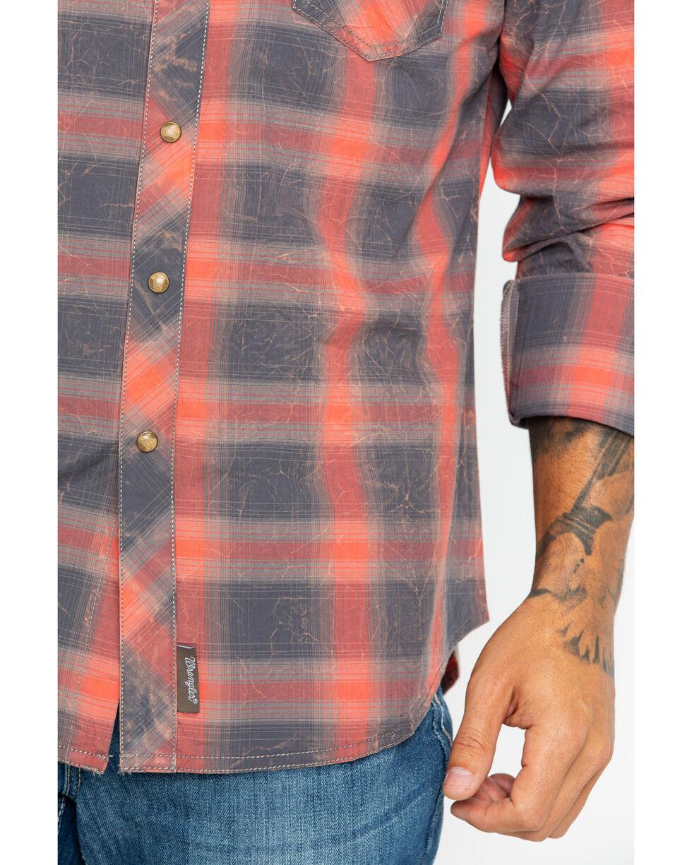 Wrangler Men's Retro Premium Large Plaid Shirt , Taupe, hi-res