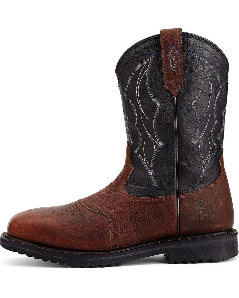 34133fdbd31 Ariat Men's RigTek Wide Square Toe H2O CT Work Boots