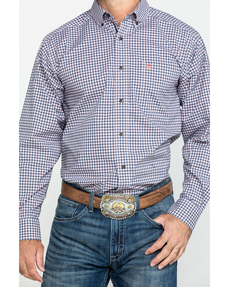 Ariat Men's Umber Stretch Multi Plaid Long Sleeve Western Shirt , Multi, hi-res