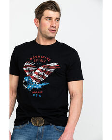 Moonshine Spirit Men's Soaring Freedom USA Graphic T-Shirt , Black, hi-res