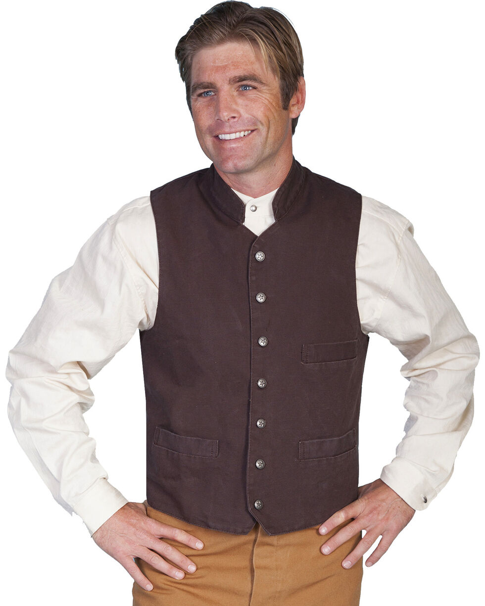 Rangewear by Scully Standup Round Collar Vest - Big & Tall, Walnut, hi-res