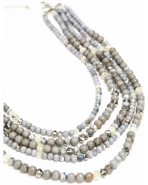 Shyanne Women's Slate Sparkle Multi Beaded Necklace, Slate, hi-res
