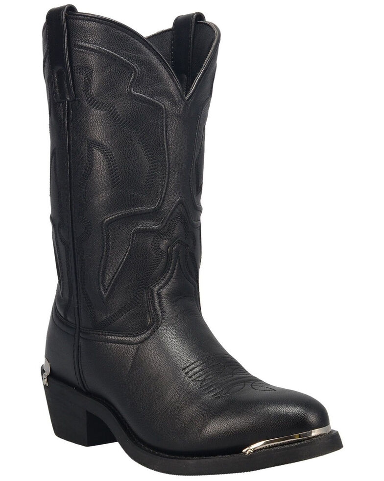 Laredo Men's Atlas Western Boots - Round Toe, Black, hi-res