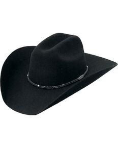 9efaad641 Master Hatters Men s Black Stanton 3X Wool Felt Cowboy Hat